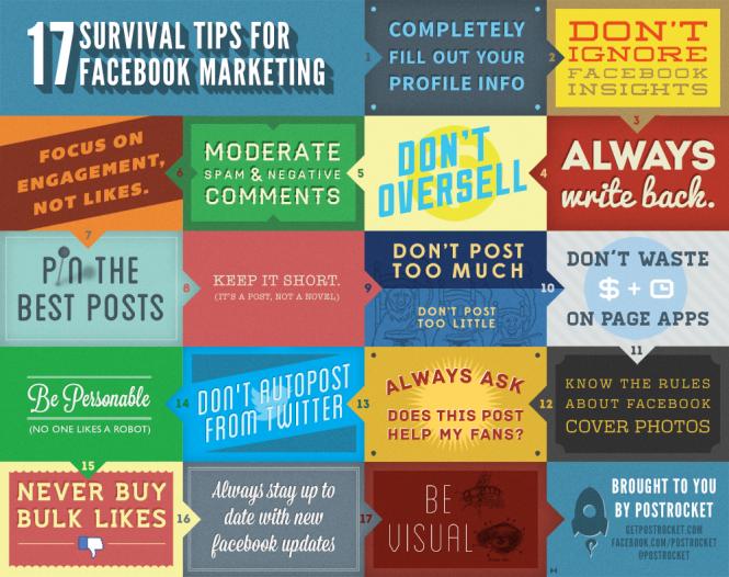 Il kit di sopravvivenza per Facebook in 17 tips [INFOGRAFICA]
