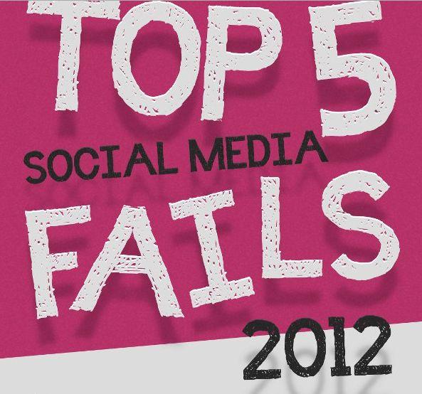 Social Media Fail 2012: le peggiori campagne di marketing dell'anno [Infografica]