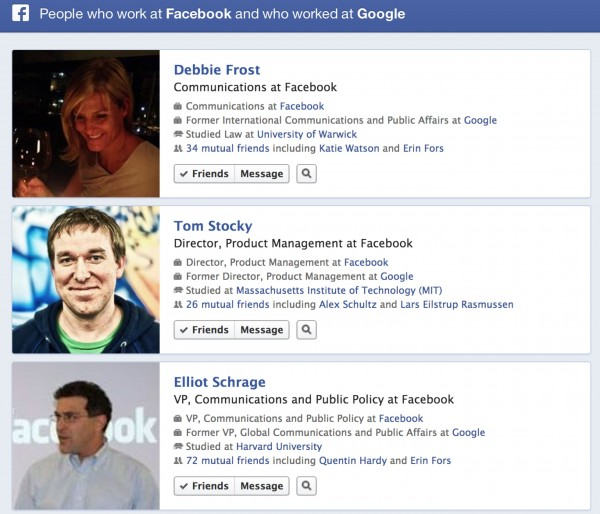 Esempio di query possibile su Facebook Search Graph