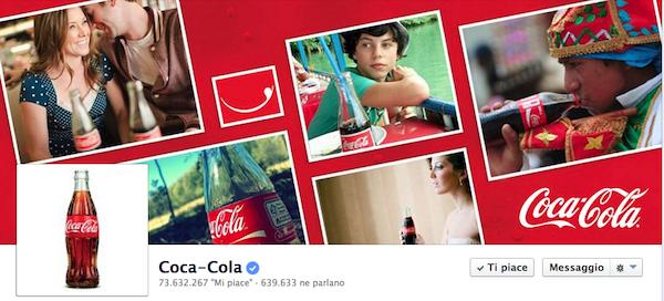 coca cola facbeook