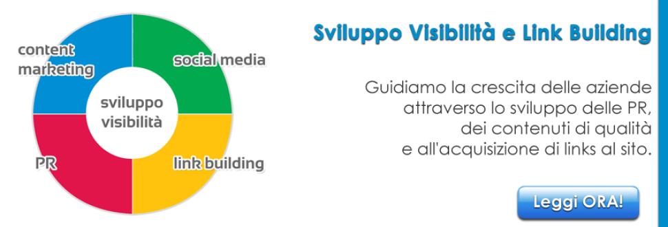 Sviluppo visibilità e Link building