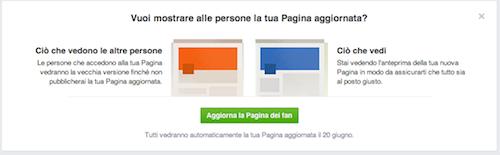Alert aggiornamento Facebook
