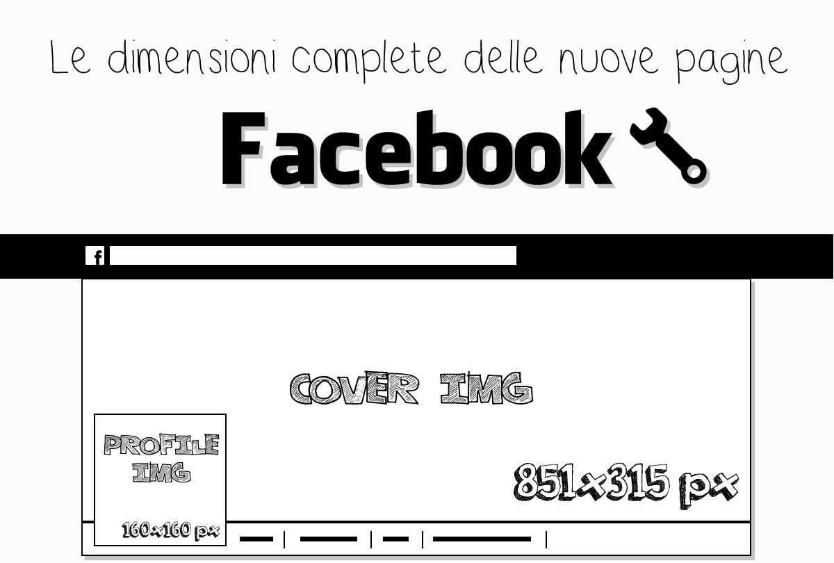 Nuove Pagine Facebook 2014: organizzazione dei contenuti e dimensione immagini [INFOGRAFICA]