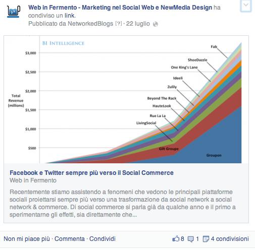 Link format facebook
