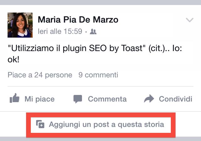 post social storie