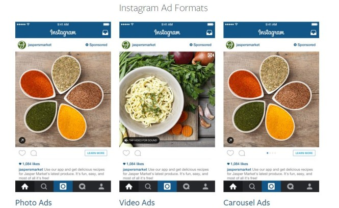 instagram ads format
