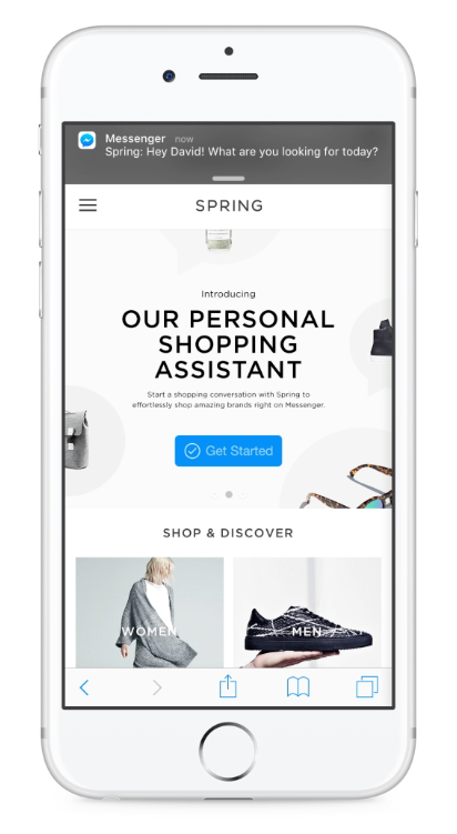 Facebook personal shopper