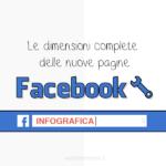 Le dimensioni delle nuove pagine Facebook in una infografica 2016