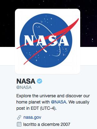 NASA, profilo certificato