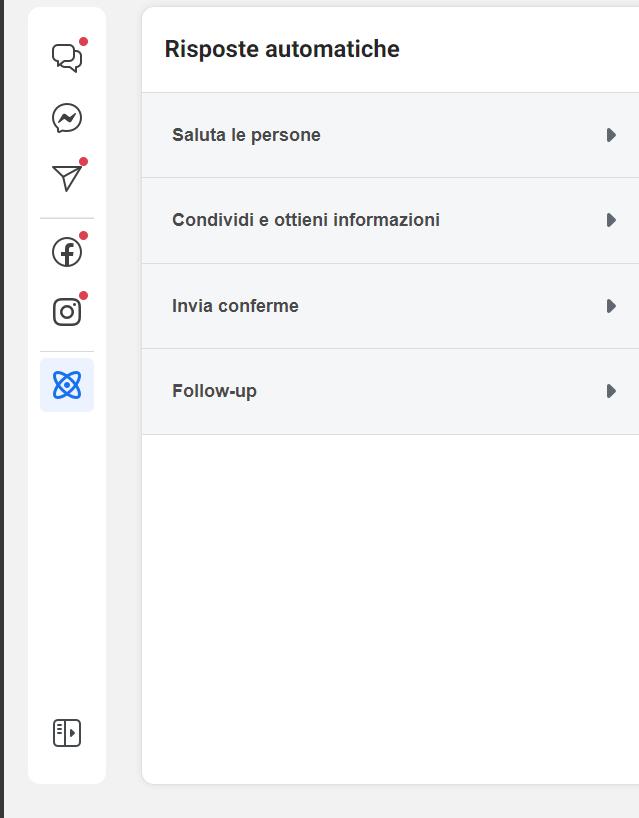 risposte automatiche facebook