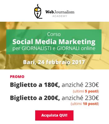 corso Social Media e Giornalismo